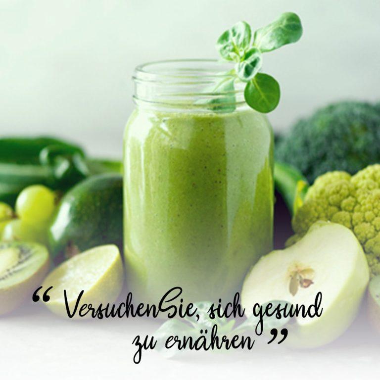 Versuchen Sie, sich gesund zu ernähren